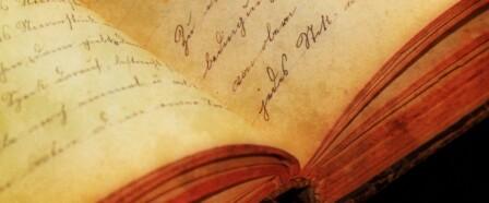 An old journal with handwritten script