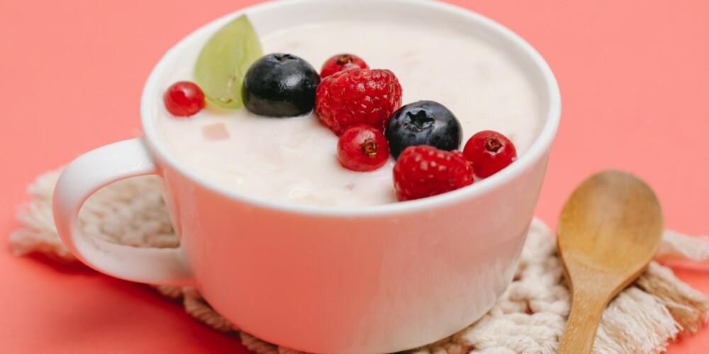 Warm Berry Sauce with Greek Yogurt