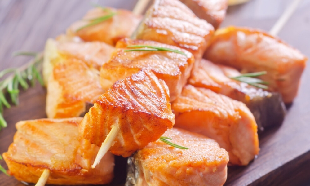 thai salmon kebabs